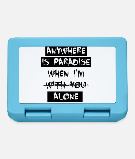 Design Lunchboxes - anywhere is paradise when - Lunchbox sapphire blue