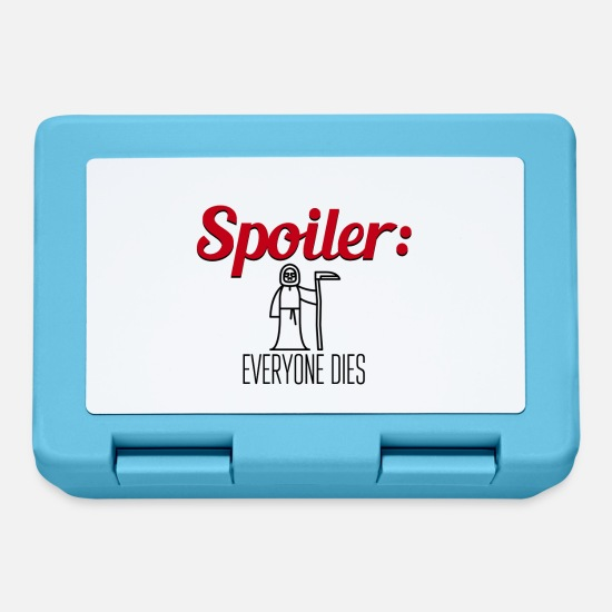 Ripper Lunchboxes - Spoiler Everyone This End of Story - Lunchbox sapphire blue