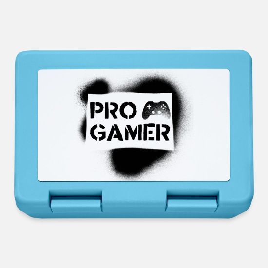 Video Game Lunchboxes - Pro Gamer - Video Games gaming esport Multiplayer - Lunchbox sapphire blue