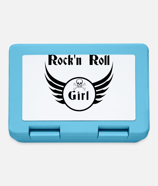 Alphabet Lunchboxes - Rock and roll girl - Lunchbox sapphire blue
