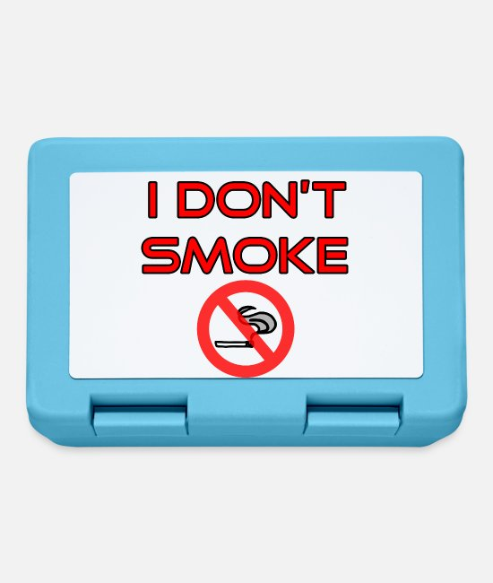 Cigarette Lunchboxes - I do not smoke - No smoking - Lunchbox sapphire blue