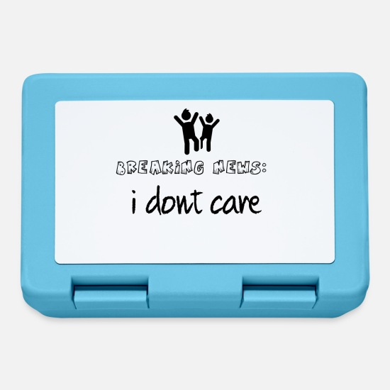 Breaking Lunchboxes - I do not care - Lunchbox sapphire blue