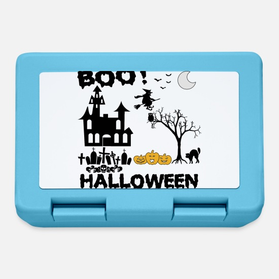 Frequentato Lunch boxes - Halloween Boo! regalo - Lunch box blu zaffiro
