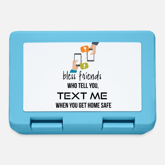 Text Lunchboxes - Bless those friends - Lunchbox sapphire blue