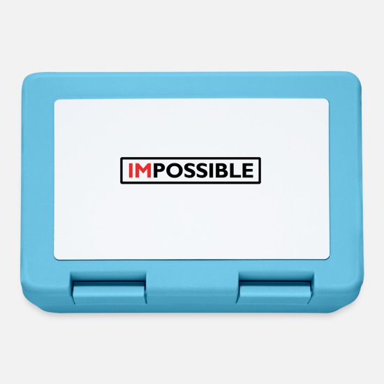 Gift Idea Lunchboxes - Impossible | present - Lunchbox sapphire blue