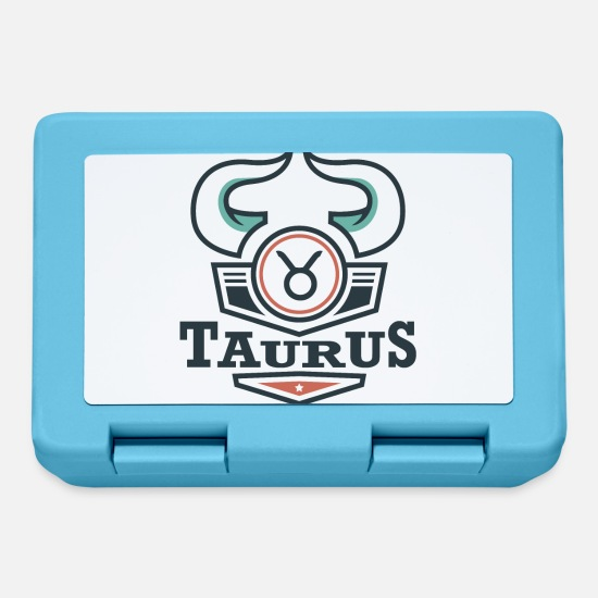 Birthday Lunchboxes - Star sign Taurus Taurus May June gift - Lunchbox sapphire blue