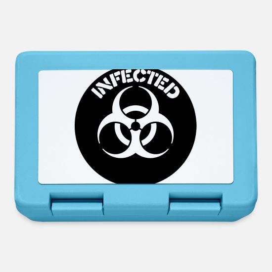 Influenza Lunchboxes - Biohazard - Lunchbox sapphire blue