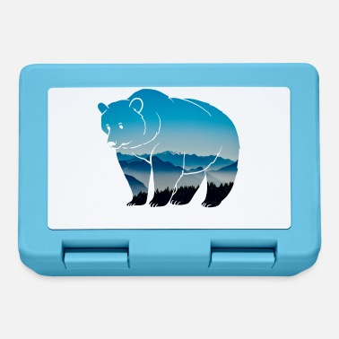 Forest Dweller Forest dwellers Forester bear forest nature animal wilderness - Lunchbox