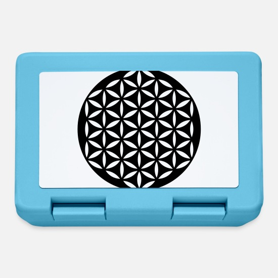 Symbol  Lunchboxes - FLOWER OF LIFE - punched - Lunchbox sapphire blue