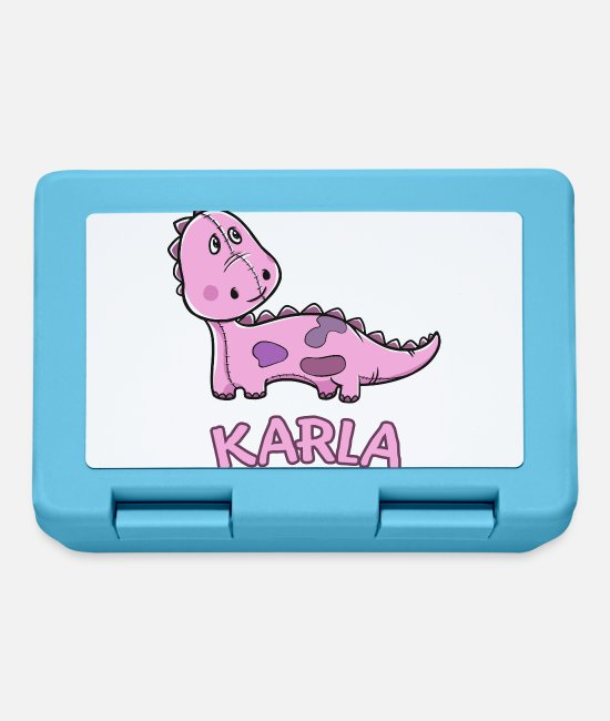 School Beginner Lunchboxes - Dinosaur funny child Karla birthday present - Lunchbox sapphire blue