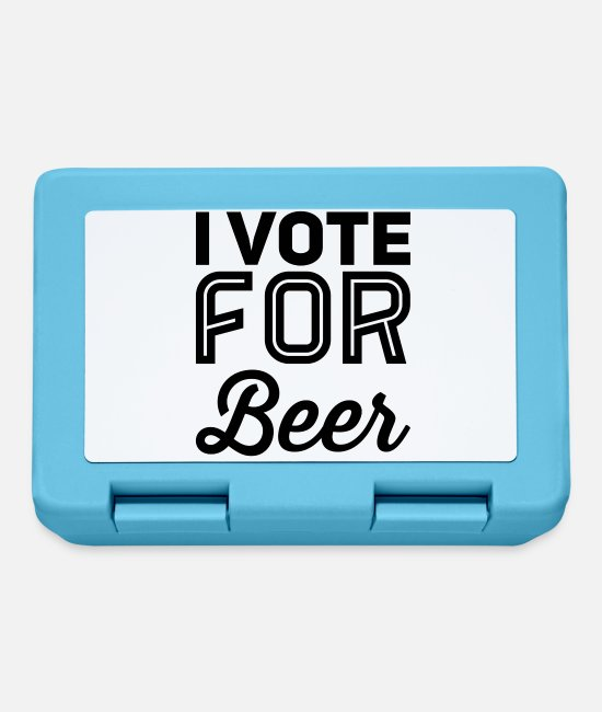 Policy Lunchboxes - I vote for beer - Lunchbox sapphire blue