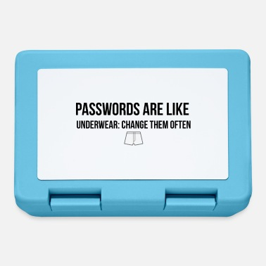 Underwear Passwords are like underwear - Lunchbox