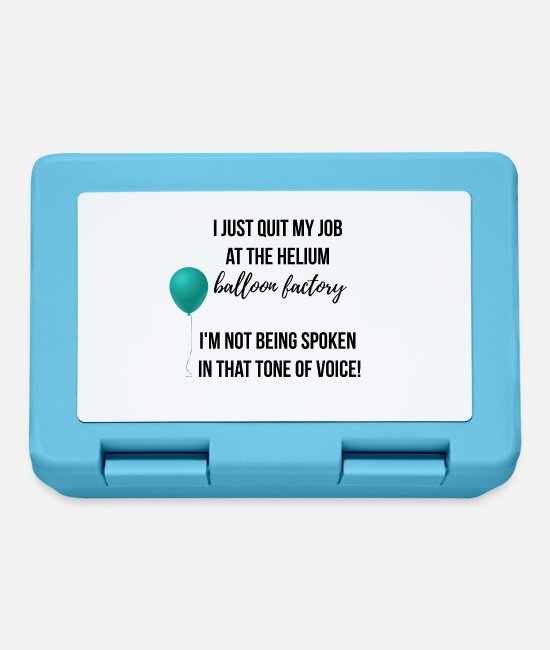 Voice Lunchboxes - I just quit my job at the Helium Balloon Factory - Lunchbox sapphire blue