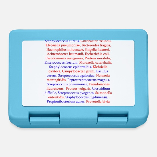 Infection Lunchboxes - Bacteria list - Lunchbox sapphire blue