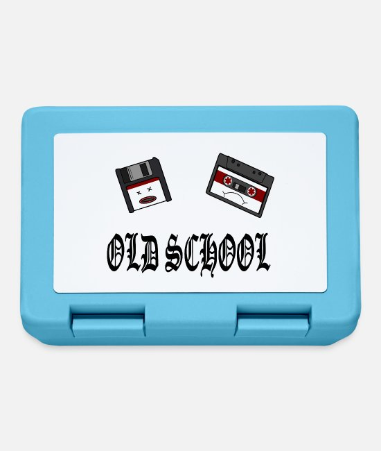 Rap Lunchboxes - Old School Design - Lunchbox sapphire blue