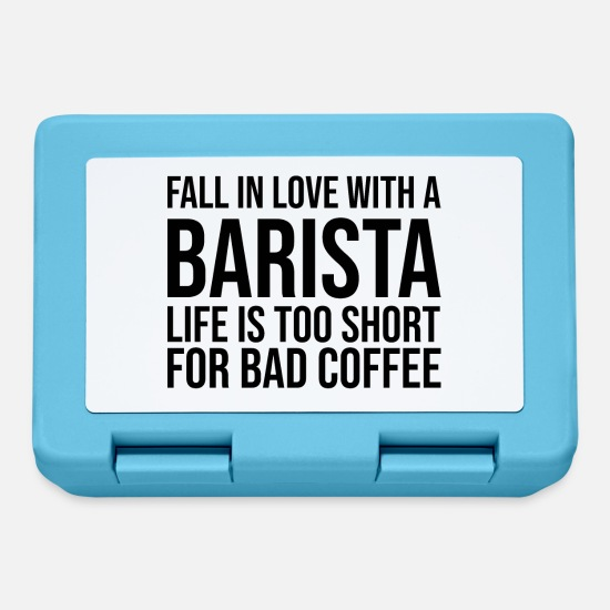 Gift Idea Lunchboxes - Barista coffee gift profession cafe bar idea saying - Lunchbox sapphire blue