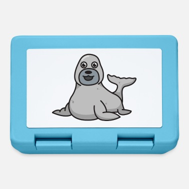 Seal-animal Seal seal gift Comic cute animal animals - Lunchbox
