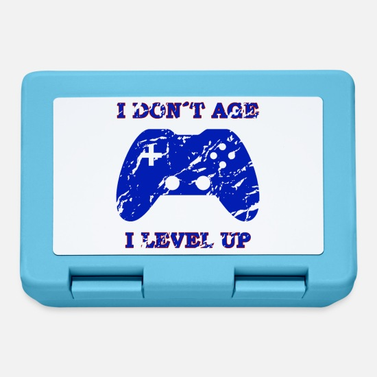 Play Lunchboxes - Gaming gambling console gift saying - Lunchbox sapphire blue