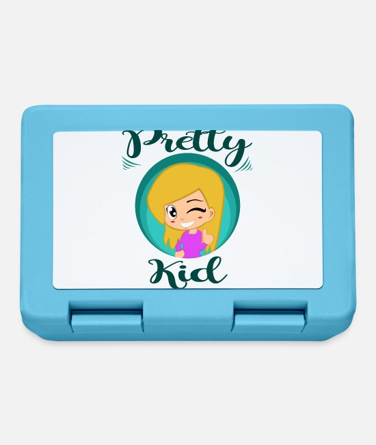 Beautiful Lunchboxes - pretty girl - Lunchbox sapphire blue