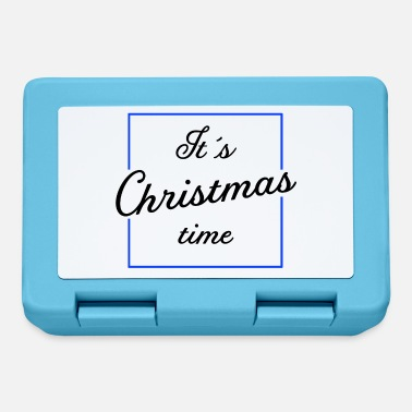 Square It's Christmas Time - Blue Square Edition - Lunchbox