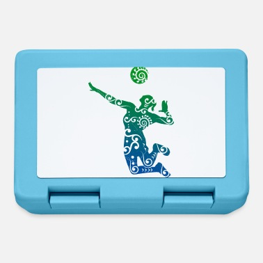 Beachvolleyball Giocatore di pallavolo Idea regalo stile Maori - Lunch box