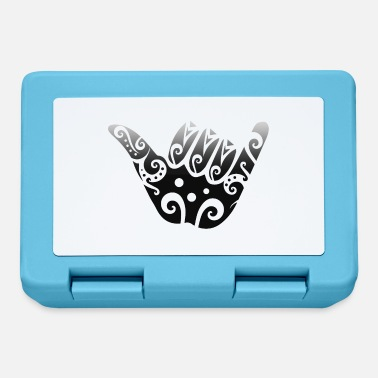 Freestyle Maori Shaka Sign Black Gift Idea - Lunchbox