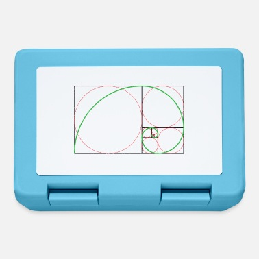 Gold Mathematics symbols Golden spiral nautilus shell - Lunchbox