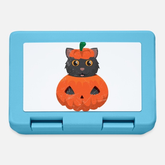 Fresco Lunch boxes - Gatto nero gatto miagolio da idea regalo zucca - Lunch box blu zaffiro