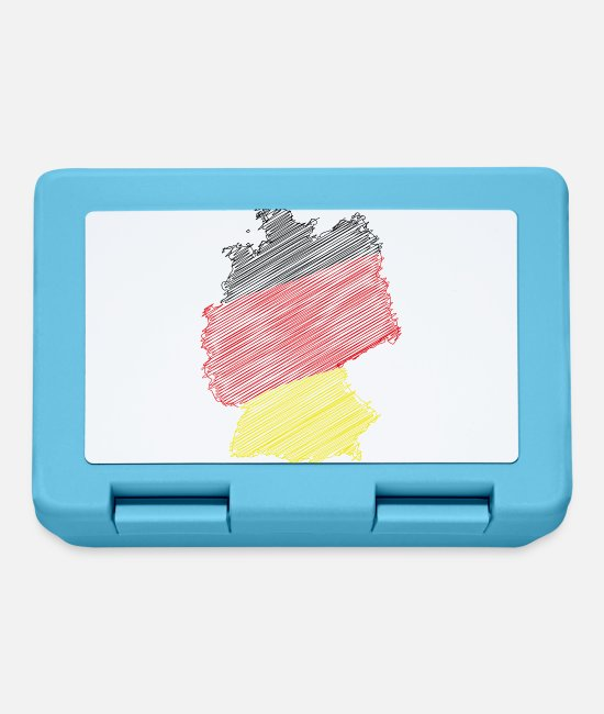 Meister Brotdosen - deutschland illustration - Brotdose Saphirblau
