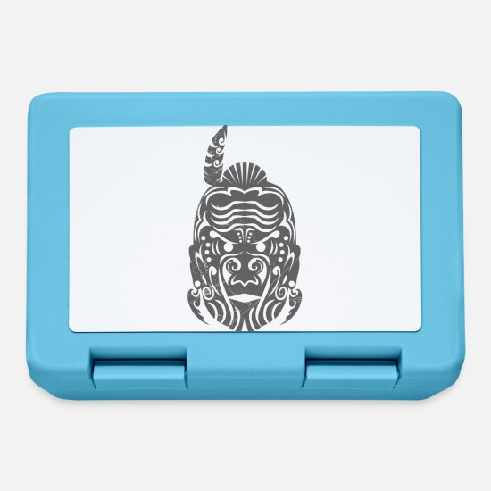 Symbol  Lunchboxes - Maori Chief gray tribal tattoo gift idea - Lunchbox sapphire blue
