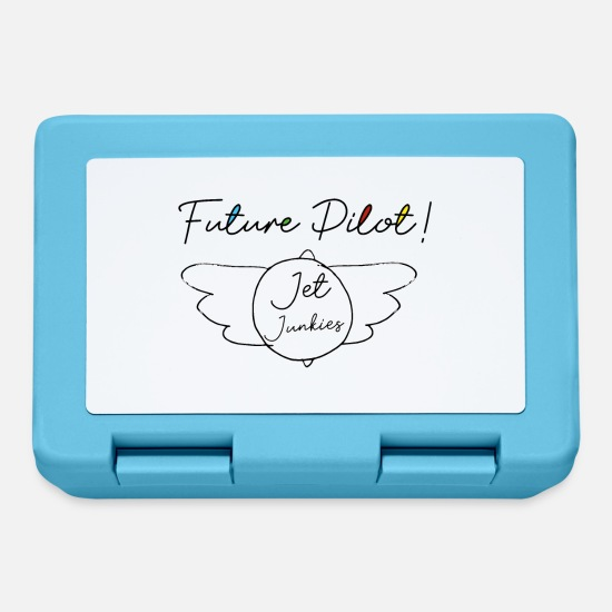 Pilot Lunchboxes - Jet Junkies Future Pilot Design - Lunchbox sapphire blue