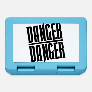 Metal Black Danger Danger - Lunchbox