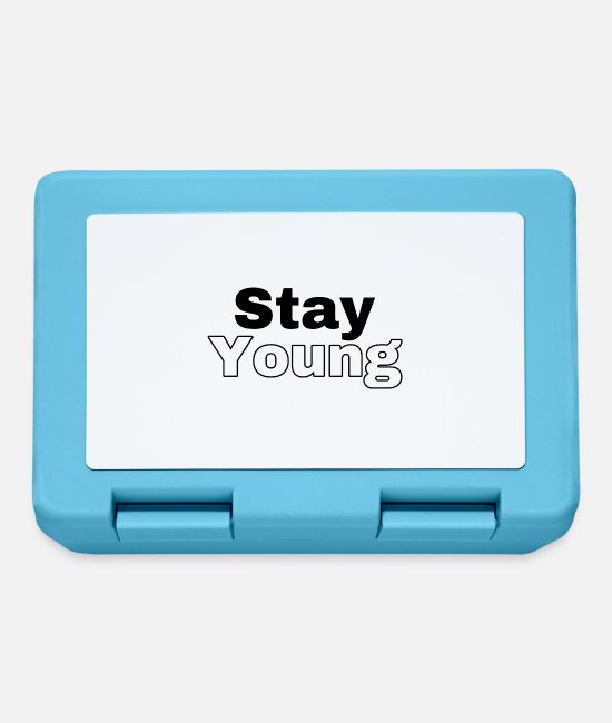 New Lunchboxes - Stay Young (standard font) - Lunchbox sapphire blue