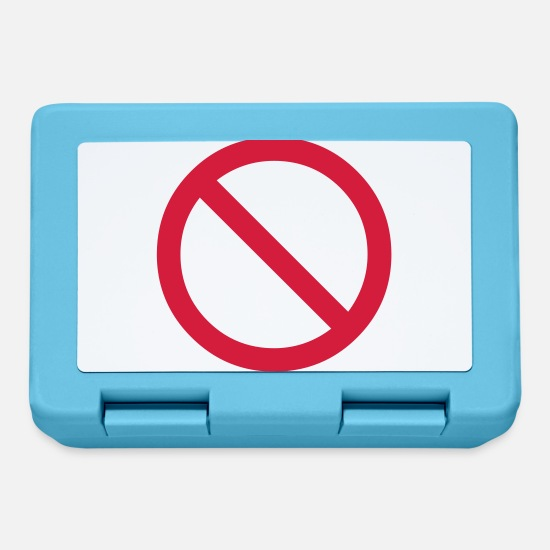 Miscellaneous Lunchboxes - no - prohibited - banned - Lunchbox sapphire blue