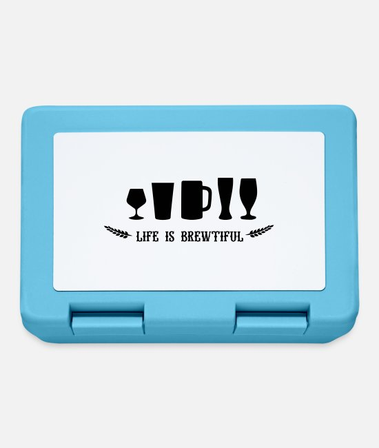 Stag Lunchboxes - beer: life is brewtiful - Lunchbox sapphire blue