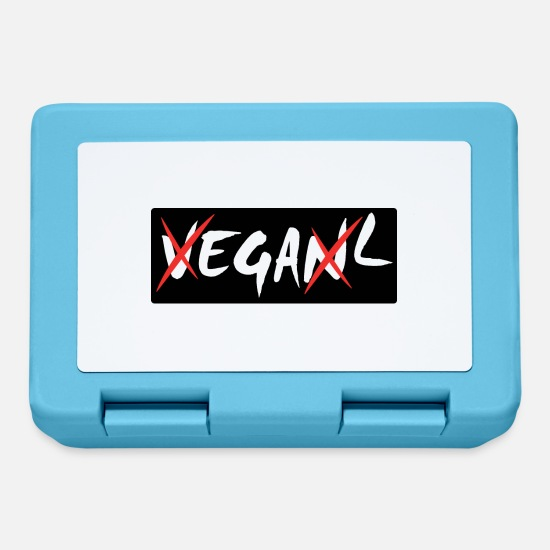 Carnivores Lunchboxes - Vegan - does not matter - black - Lunchbox sapphire blue