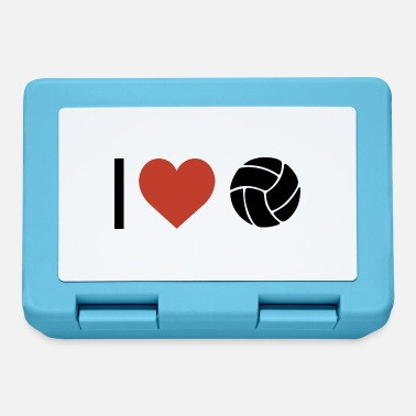 Sport I heart volleyball sport - Lunchbox