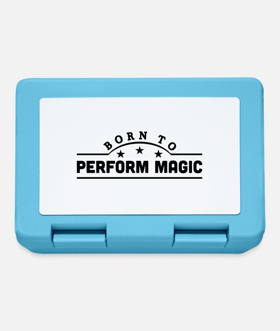 Magic Lunchboxes - born to perform magic banner - Lunchbox sapphire blue