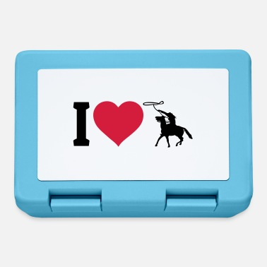Riding I love western riding - Lunch box