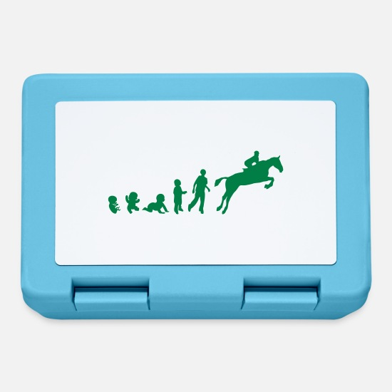 Hurdle Lunchboxes - Evolution cheval4 obstacle riding his - Lunchbox sapphire blue