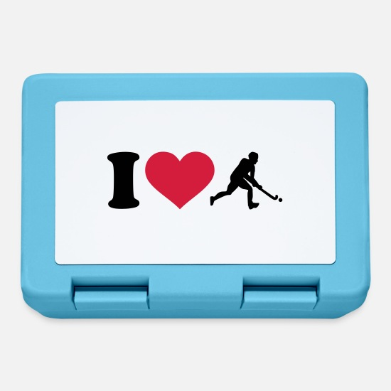 Love Lunchboxes - I love Field hockey - Lunchbox sapphire blue
