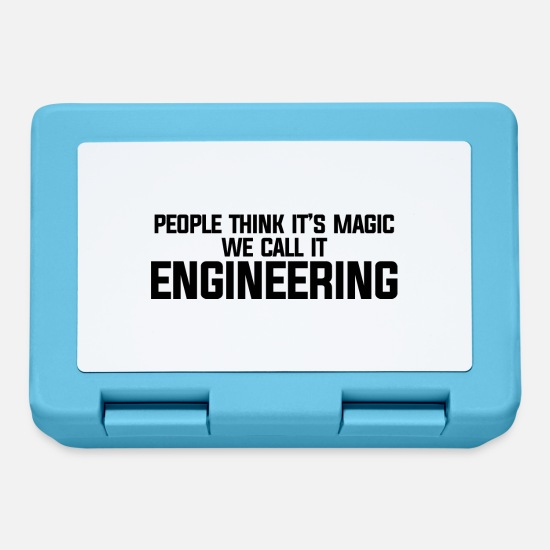 Think Lunchboxes - PEOPLE THINK IT S MAGIC WE CALL IT ENGINEERING - Lunchbox sapphire blue