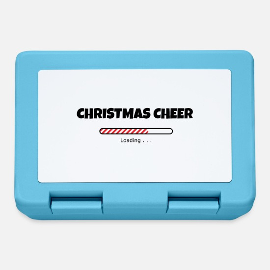 Christmas Lunchboxes - Christmas Cheer Loading - Lunchbox sapphire blue