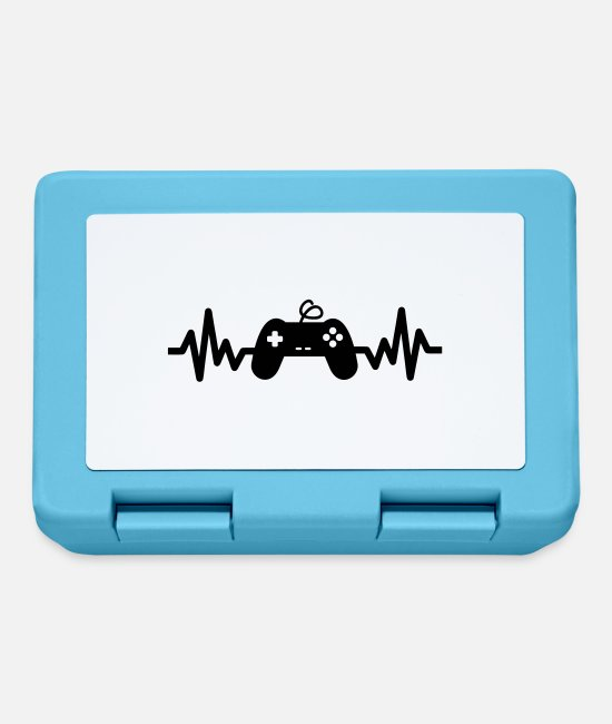 Geek Lunchboxes - gaming is life - gaming - Lunchbox sapphire blue