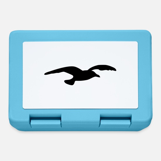 Waves Lunchboxes - gull - Lunchbox sapphire blue