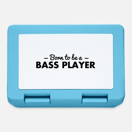 Guitar Lunchboxes - born to be a bass player - Lunchbox sapphire blue
