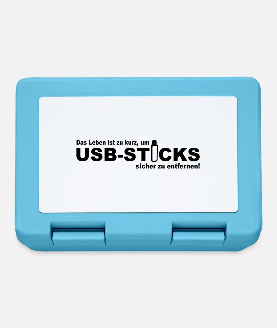 Programmemer Lunchboxes - Life is too short to USB sticks securely - Lunchbox sapphire blue