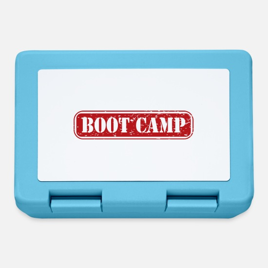 Education Lunchboxes - Bootcamp training camp gift military drill - Lunchbox sapphire blue