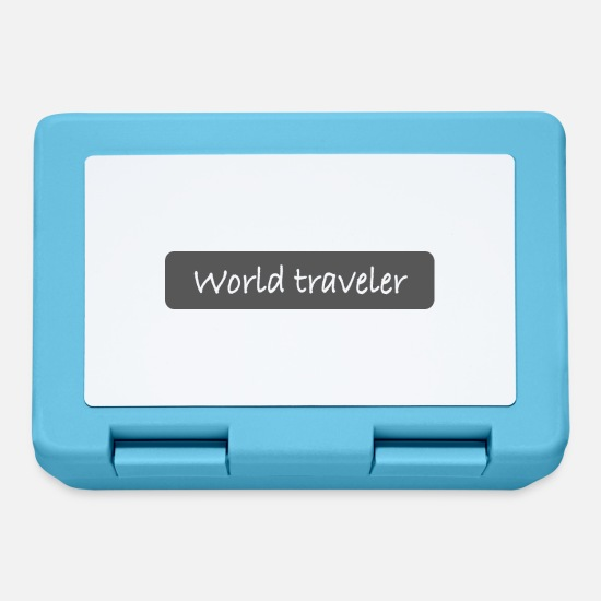 Travel Lunchboxes - World traveler - Lunchbox sapphire blue