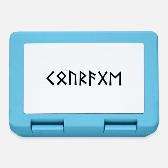 Viking Lunchboxes - Courage - Viking runes - Lunchbox sapphire blue